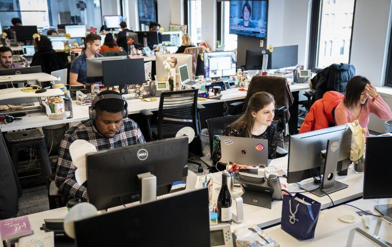 Members of the BuzzFeed News team in New York City.
