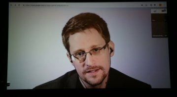 Edward Snowden speaks remotely WIRED25 Festival, 2018