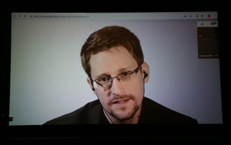 Edward Snowden speaks remotely WIRED25 Festival, 2018