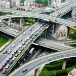 A road junction at Hangzhou.