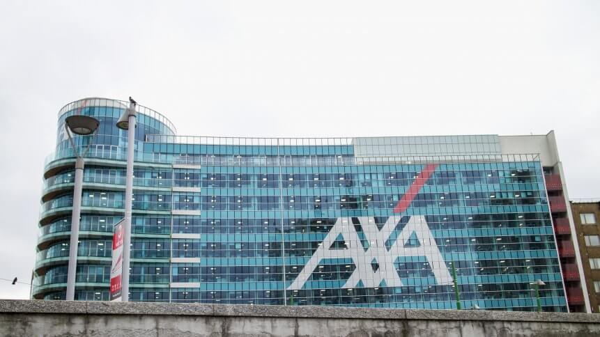 Axa Palace in Milan. Futuristic building was build in the Porta Nuova urban redevelopment project in 2014