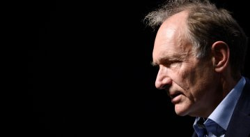 """World Wide Web inventor Tim Berners-Lee takes part in a session entitled: """"Thirty Years On: Let the Web Serve Humanity"""""""