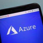 Microsoft Azure logo on smartphone