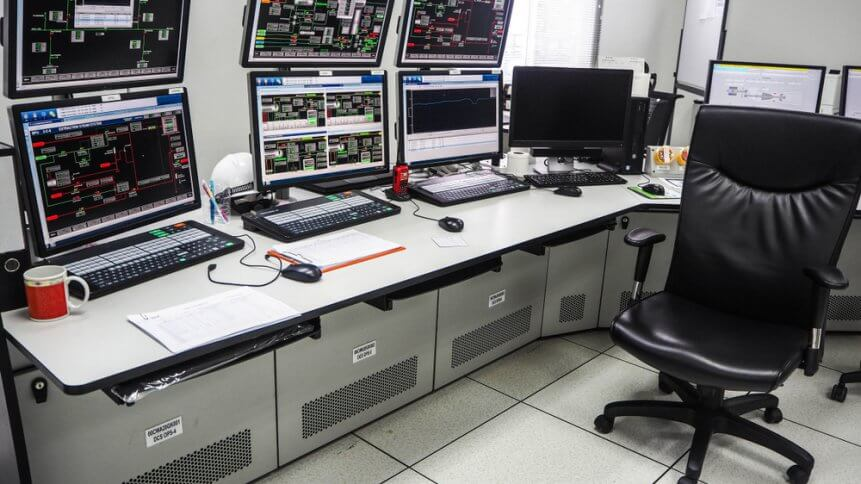 Control room in a power plant in Thailand
