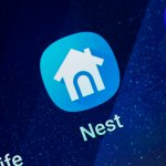 Nest Home Android App on Galaxy Screen. Nest is a home smart service