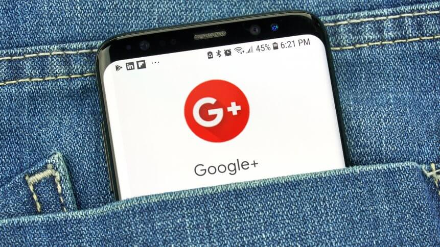 Google Plus app on s8 screen