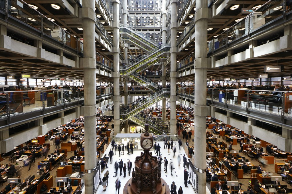 The Underwriting Room. Lloyd's of London