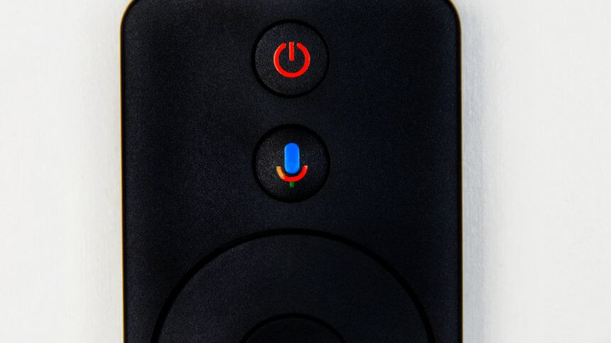 Google Voice Search button on Android TV