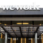 WeWork office building entrance in Downtown, San Diego