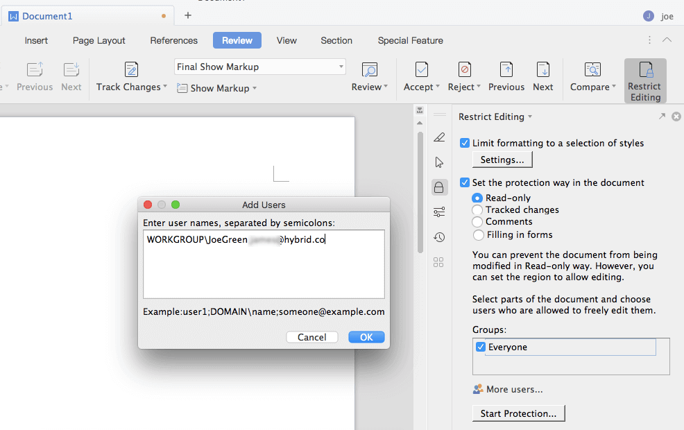 Encrypt and share Office docs on Apple Mac