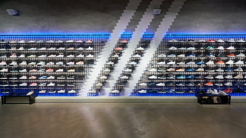 Adidas store in St Petersburg, Russia