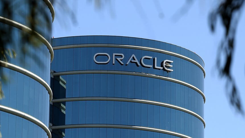 Oracle revenue decline due to pandemic-induced factors. Source: AFP