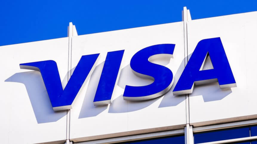 Visa is exploring the role of blockchain and digital currency in finance. Source: Shutterstock