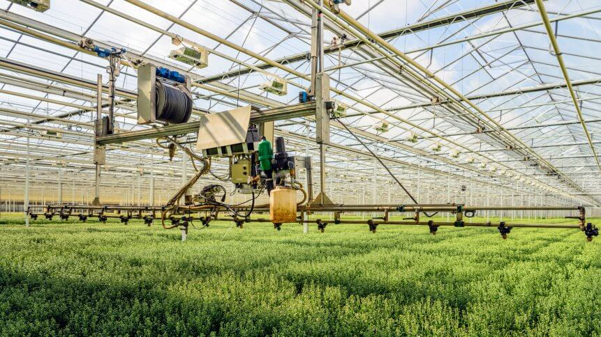 Agritech in action – semi-automatic spraying robot