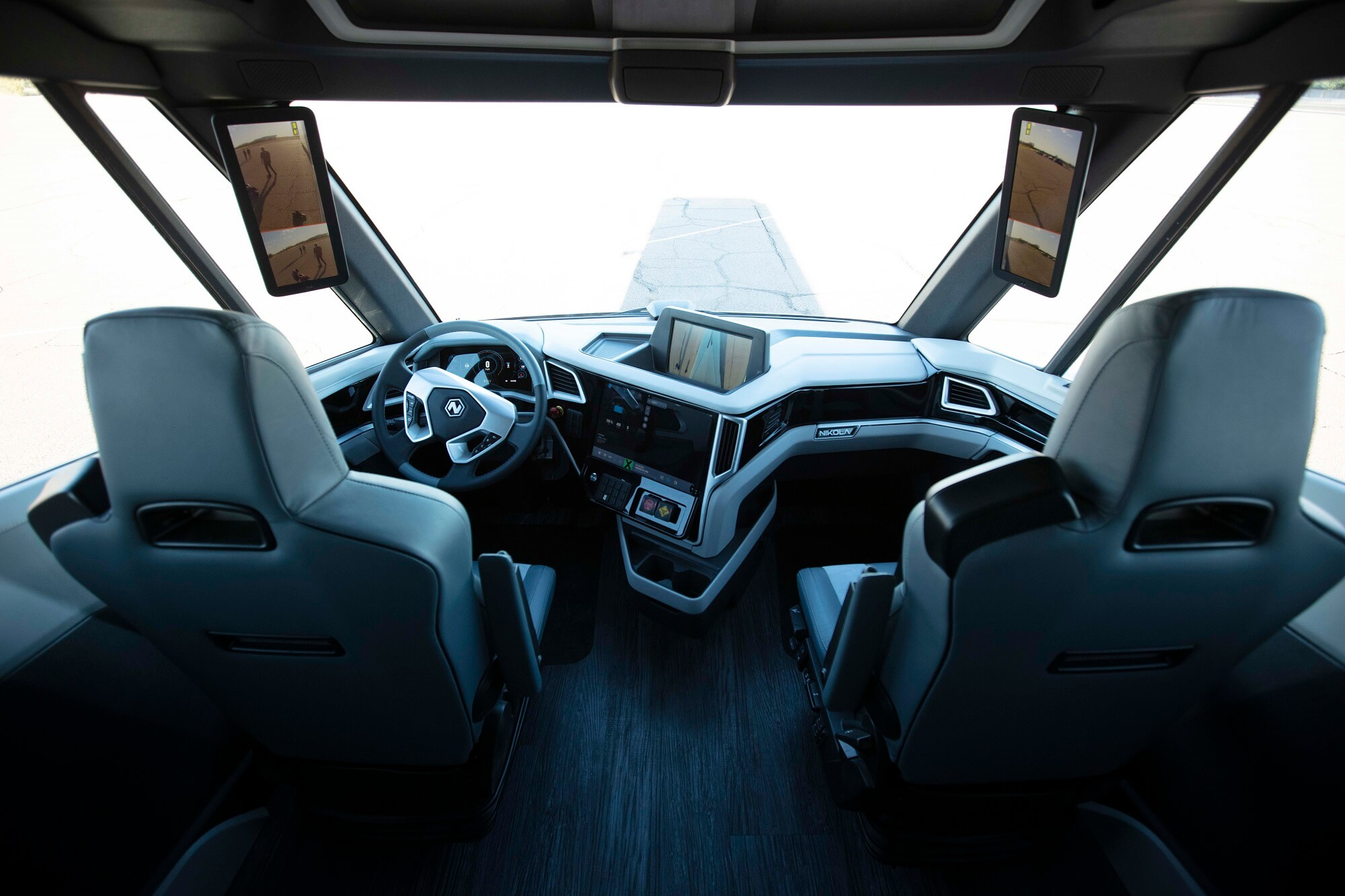 Interior of the Nikola Two autonomous truck