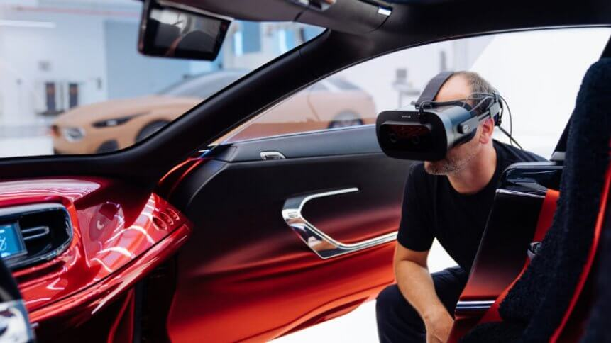 KIA uses Varjo's VR headset to not only improve its car concepts, but to collaborate with global teams too.