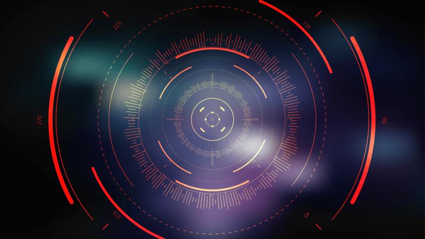 Sci-fi futuristic crosshair. HUD user interface. Technology background. Spaceship hightech target screen concept. Vector illustration