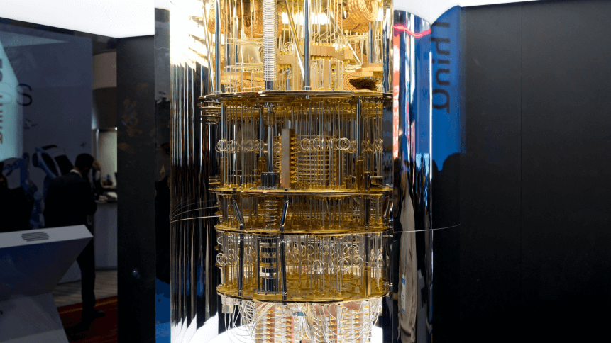 IBM Q System One Quantum Computer at the Consumer Electronic Show CES 2020