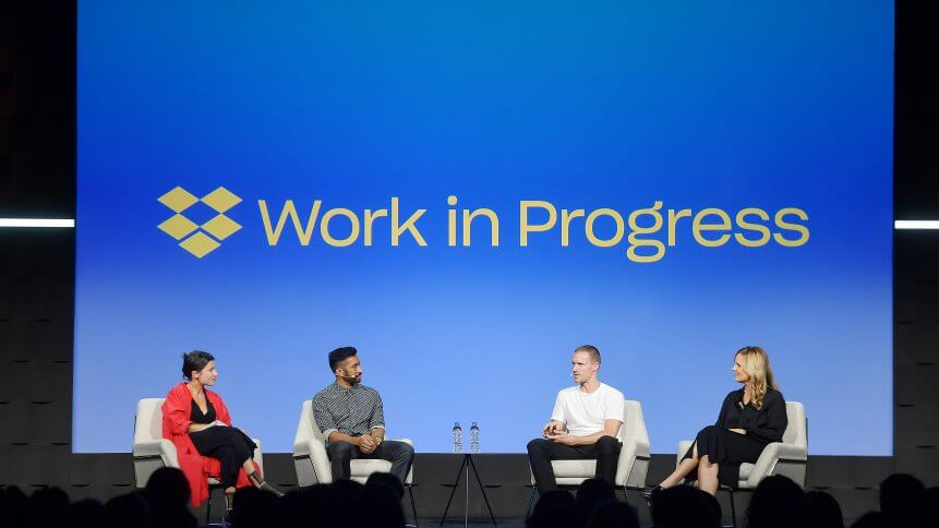 What is happening with Dropbox's workforce?