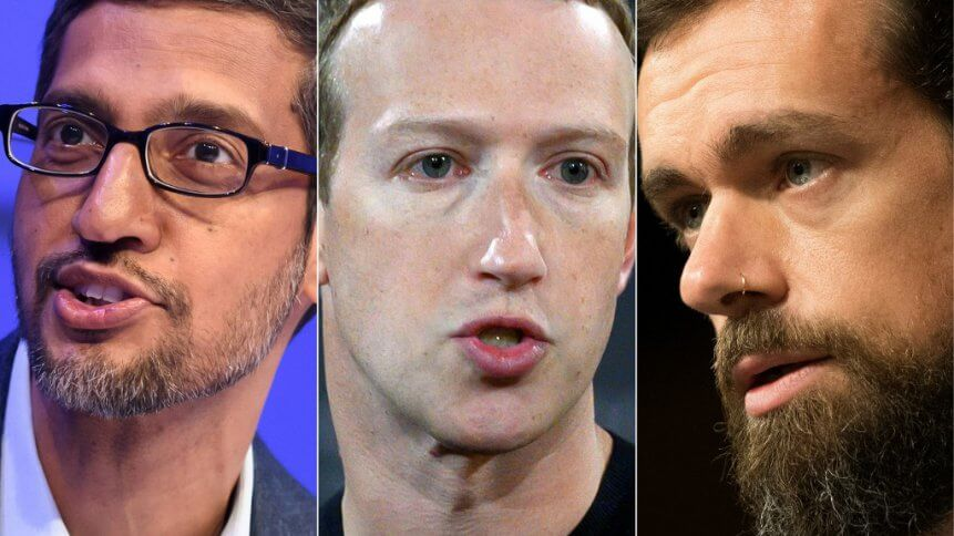 Big tech CEOs said they were doing their best to keep out harmful content
