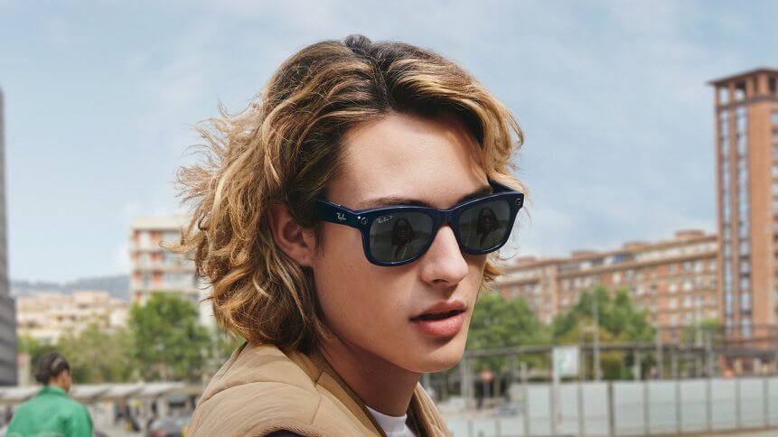The Ray-Ban Stories shades can take pictures and video upon the wearer's voice commands, and the frames can connect wirelessly to the Facebook platform through an app